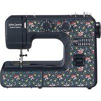 John Lewis & Partners JL111 Sewing Machine, Blue/Ditsy