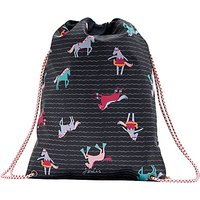 Joules Navy Pony Drawstring Bag, Navy Blue