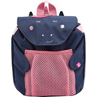 Joules Unicorn Children's Backpack, Navy Blue/Pink