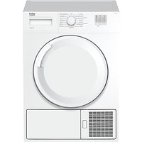Beko DTGC8000W Freestanding Condenser Tumble Dryer, 8kg Load, B Energy Rating, White