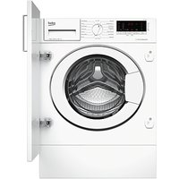 Beko WIY84540F Integrated Washing Machine, 8kg Load, A+++ Energy Rating, 1400rpm Spin, White
