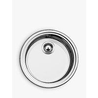 Blanco Rondo Sol-U Single Bowl Undermounted Round Kitchen Sink, Stainless Steel