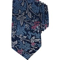 Ted Baker Basic Floral Pattern Silk Tie, Navy