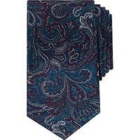 Ted Baker Belgium Paisley Pattern Silk Tie, Teal