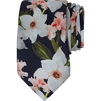 Ted Baker Kelin Bloom Print Silk Tie, Navy
