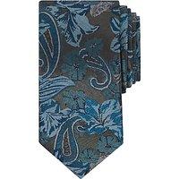 Ted Baker Hawthor Floral Pattern Silk Tie, Teal