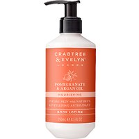 Crabtree & Evelyn Pomegranate & Argan Oil Nourishing Body Lotion, 250ml
