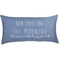 John Lewis & Partners Coastal Sea You in the Morning Cushion