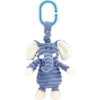 Jellycat Cordy Roy Baby Elephant Jitter Soft Toy, Blue/White
