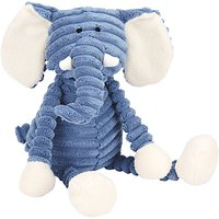 Jellycat Cordy Roy Baby Elephant Soother Soft Toy, Blue/White