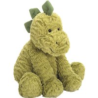 Jellycat Fuddlewuddle Dino Soft Toy, Medium, Green