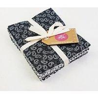 Craft Cotton Co. Classic Printed Fat Quarter Fabrics, Pack of 6, Black