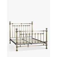 John Lewis Banbury Bed Frame, King Size, Antique Brass