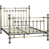John Lewis and Partners Banbury Bed Frame, Double, Antique Brass