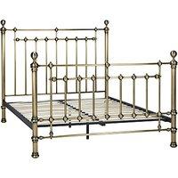 John Lewis Banbury Bed Frame, Double, Antique Brass
