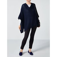 Pure Collection Drop Back Knitted Poncho