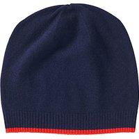 Pure Collection Colour Block Cashmere Hat, Navy