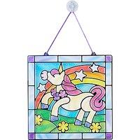 Melissa & Doug Stained Glass Unicorn Craft Set