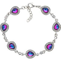 Monet Teardrop Glass Crystal Bracelet, Silver/Lilac at John Lewis & Partners Department Store