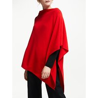 Winser London Cashmere-Blend Poncho, Hollywood Red