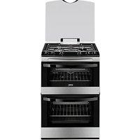 Zanussi ZCG63010XA Gas Cooker, Stainless Steel