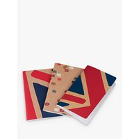Jacks & Co Great Britain A6 Notebook, Pack of 3, Multi