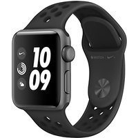 apple watch nike+, gps, 38mm space grey aluminium case with nike sport band, anthracite / black