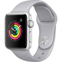 Apple Watch Series 3, GPS, 38mm Silver Aluminium Case with Sport Band, Fog