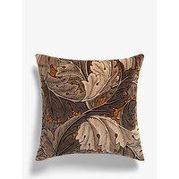 Morris & Co Acanthus Velvet Cushion, Slate