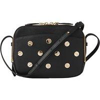 L.K. Bennett Mariel Studded Leather Shoulder Bag, Black