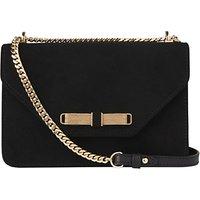 L.K. Bennett Karla Suede Shoulder Bag, Black