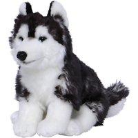 Living Nature Sitting Husky Dog Plush Soft Toy, Black/White