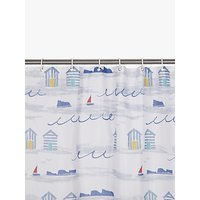 image-John Lewis & Partners Coastal A Day at the Beach Shower Curtain