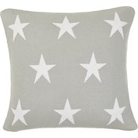 little home at John Lewis Star Cushion, Grey/White