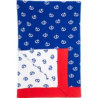 little home at John Lewis Noisy Harbour Throw, Blue
