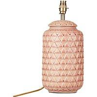 John Lewis & Partners Oshro Ceramic Lamp Base, Pink