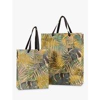John Lewis & Partners Tropical Leaf Gold Gift Bag