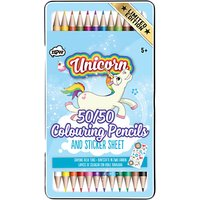 NPW Childrens 50/50 Unicorn Pencils, Pack of 12, Multi