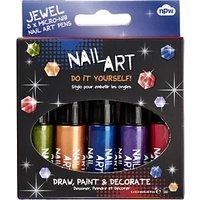 NPW Children's Nail Art Jewel Pens, Pack of 5, Multi