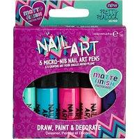 NPW Children's Nail Art Matte Pens, Pack of 5, Multi