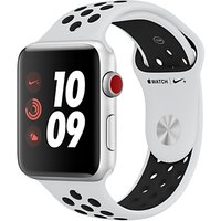 Apple Watch Nike+, GPS and Cellular, 42mm Silver Aluminium Case with Nike Sport Band, Pure Platinum / Black
