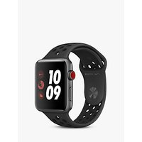 Apple Watch Nike+, GPS and Cellular, 42mm Space Grey Aluminium Case with Nike Sport Band, Anthracite / Black