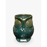 John Lewis Ceramic Owl Candle, Green