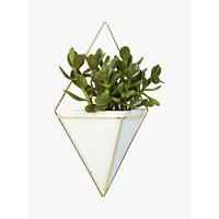 Umbra Trigg Large Wall Planter, White