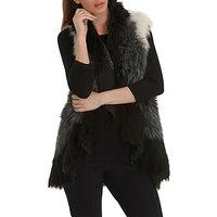 Betty Barclay Faux Fur Gilet, Cream/Black