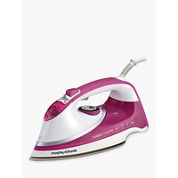 Morphy Richards Turbosteam Pro Steam Ceramic Iron, Pink