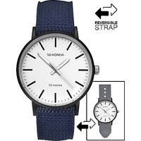 Sekonda Mens Reversible Nylon Fabric Strap Watch