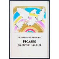 Picasso - Mourlot The Rainbow Dove Framed Print, 82 x 60cm