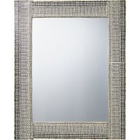 John Lewis & Partners Resin Textured Mirror, H76 x W61cm, Black/White