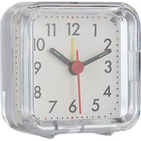 John Lewis Basics Alarm Clock, White